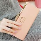 Fashion Ladies Purse Wallet Long Clutch Bag Card Leather Bowknot Button Folding