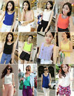 Hot Womens Chiffon Sleeveless Crew Neck Loose Vest Tank T-Shirt Blouses Tops
