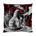 Alice In Wonderland Grunge Caterpillar (Red Version) Two Sided Cushion Cover