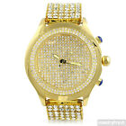 Gold Finish Iced Out Blizzard Mens Hip Hop Style Watch