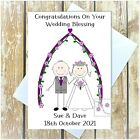 PERSONALISED WEDDING DAY CARD CONGRATS ANNIVERSARY BLESSING VOW RENEWAL MULTI