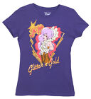 Jem and the Holograms Glitter n Gold Cartoon TV Show Juniors Mighty Fine T-Shirt