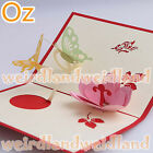 Butterfly & Flower 3D Card, Valentine's Day Christmas Card Wedding Invitation