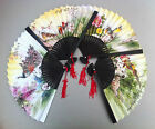 Bamboo Double Side Paper Folding Hand Fan for Decorations Wedding Gift Party