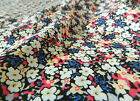 Retro Blue & Pink  Small Floral  Fabric  **Per Meter/FQ**