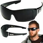 LOCS Rectangular Gangster Black Shades Mens Designer Sunglasses Cholo Dark Lens