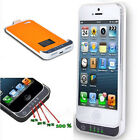 2200mAh for iPhone 5 External Backup Battery Case Cover Power Bank Charger Tool