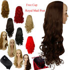 Long straight curly wavy clip in hair wigs 1 piece synthetic half full head wig
