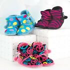 LADIES PRINT BOOTIE SLIPPERS PEACE SIGN PINK ZEBRA OR BIG DOT SMALL MED LARGE