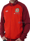 BNWT Wales Umbro Woven Training Football Jacket Vermillion Red  M  XL