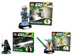 Star Wars Lego Night Light Torch With Base - New + Official Boba Fett/Vader/Yoda