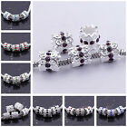 NEW Lots Crystal Silver Plated European Bead Fit Charm Bracelet PB58-68