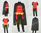 Young Justice Robin Cosplay Costume Suit Stretchable Fabric Version Jumpsuit New