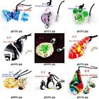 g814p12 Fashion Animal Lampwork Glass Murano Bead Pendant Necklace Earrings set
