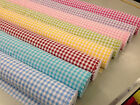 GINGHAM CHECK FABRIc cotton 148cm wide, blue,red, baby pink,cerise ,50/100cm