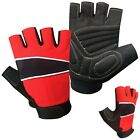 PRIME CYCLING GLOVES GEL PADDED LEATHER GLOVES FITNESS BODY BUILDING GYM 601 RED