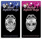 Official Boob Boobies Pecker Willy Inspector Badge with Pin Stag Hen Night Party