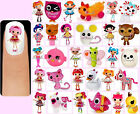 60x LALALOOPSY Nail Art Decals + Free Gems Lala Loopsy Rag Dolls Pets Animals