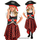 CK218 Kids Pirate High Seas Buccanneer Fancy Dress Girl Book Week Party Costume