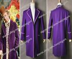 Charlie And The Chocolate Factory Cosplay Willy Wonka Coat Costume Purple Jacket