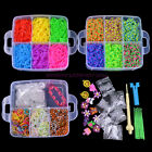 Wholesale 4800Pcs X Rainbow Colourful Rubber Loom Bands Bracelet DIY Making Kit