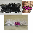 BRIDE TO BE Garter Lace Garters Black White OR  Pink