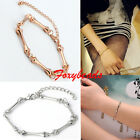 Punk Cool Rock Women Retro Metal Bone Skeleton Cuff Bangle Bracelet Gold Tone