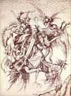"Poster / Leinwandbild ""The Temptation of St. Anthony"" - Martin Schongauer"