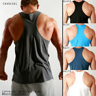 Mens RACERBACK Aesthetic Gym Training Singlet Weightlifting Tank Muscle Top Zyzz