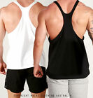 Mens NEW Y-BACK LOOSE fit Gym Training Singlet Weight Bodybuilding Stringer Tank