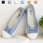 New casual Women's Canvas Shoes Flats Slip-On Casual Boat Comfy Round Toe XP0011