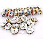 10mm Colorful Crystal Rhinestone Metal Spacer Beads for Jewelry Making,50pcs