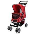 Large Deluxe Folding 4 Wheels Pet Dog Cat Carrier Stroller 8 Colors Choice
