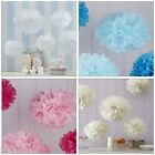 Tissue Paper Pom Poms 5pk available in Pink White Blue Ivory Wedding Babyshower