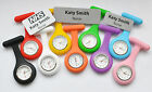Nurse Watch and Personalised Name badge. Two in One. Save time and money
