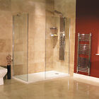 Bathroom Shower Wet Room 8mm Glass Panel 1850x1200,1000 Return Screen 800 Tray
