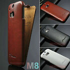 DESIGNER EMBOSSED VINTAGE HIGH QUALITY PU LEATHER FLIP CASE COVER FOR HTC ONE M8