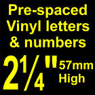 """QTY of: 3 x 2¼"""" 57mm HIGH STICK-ON  SELF ADHESIVE VINYL LETTERS & NUMBERS"""