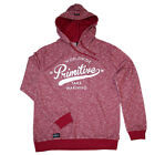 Primitive Apparel Take Warning Hoodie Burgundy Clothing