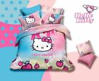 * I Love Apples Hello Kitty Single Bed Quilt Cover Set - Flat or Fitted Sheet *