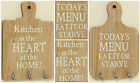 Kitchen Wooden Chopping Board Triple/3 Hook Plaque/Sign w/Slogan. Home/Gift