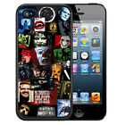HORROR MOVIE COLLAGE RUBBER CASE FOR iPHONE 8 7 6 6S 5 5S 5C SE PLUS