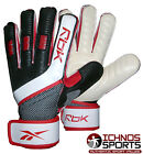 Reebok fingersave black red white soccer football goalkeeper gloves
