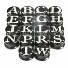 Multiple Sizes Initials Letters Acrylic Screw Fit Flesh Tunnels Black Ear Plugs