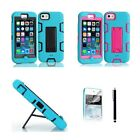 For Apple iPhone 5C KickStand Case Heavy Duty Hybrid Rugged Rubber Shock Proof