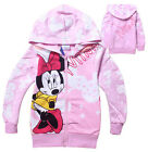 Sweet Toddlers Kids Girls Minnie Mouse Zipper Hoodies Pink Coat Clothing 2-8Yrs