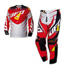 UFO 2016 Voltage Race Wear - Jersey Pant Motocross / Enduro Combo Kit Red