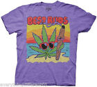 Marijuana & Blunt On The Beach Best Buds Adult Novelty T Shirt Awesome