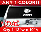 "KANSAS CITY CHIEFS WORD/ARROW LARGE LOGO DECAL STICKER 12""w x 10""h ANY 1 COLOR on eBay"