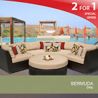 Bermuda 4 Piece Oversized Outdoor Wicker Patio Furniture Set w/ Extra Cover Set